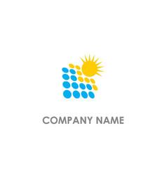 Solar panel sun shine logo vector