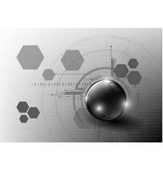 Technological global modern communication system vector