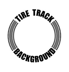 tire track text circle vector image