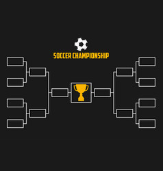 Tournament bracket soccer championship vector