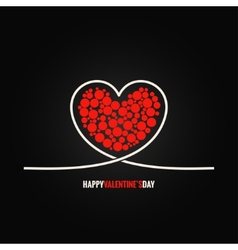 valentines day concept design background vector image