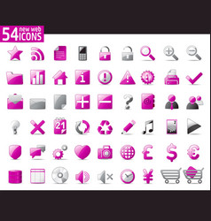 Violet web icons vector