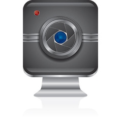 Web cam icon design vector