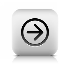 Web icon with black arrow sign on white vector