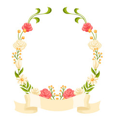 wedding frame for invitation or greeting card vector image