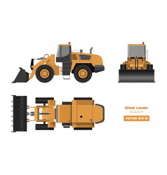 wheel loader on white background vector image