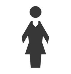 Woman icon Pictogram female design vector image