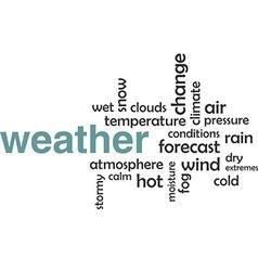 word cloud weather vector image