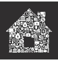 Business the house vector image vector image