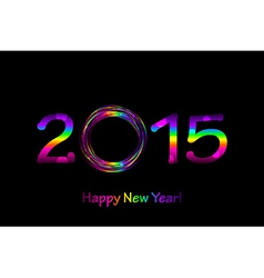 colorful 2015 Happy New Year background vector image vector image