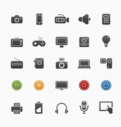 device and multimedia symbol icon set vector image