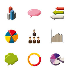 trade infographic icons set cartoon style vector image