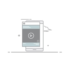 Video design concept player or tutorial in the vector image vector image