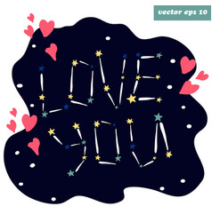 love you stars vector image
