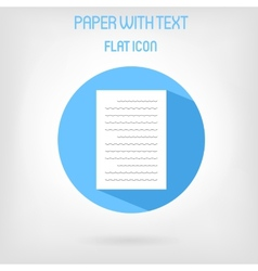 Paper list icon in flat style vector image vector image