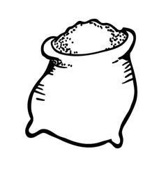 sack of sugar vector image vector image