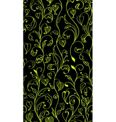 seamless green line flowers vector image vector image
