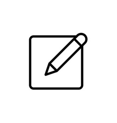 thin line notepad with pen icon vector image