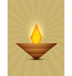 abstract diwali diya vector image