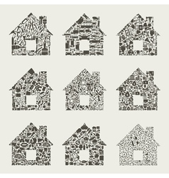 Collection the house vector image vector image
