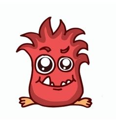 Fire monster kids t-shirt design vector