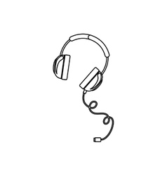 Isolated headphone design vector image vector image