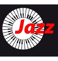 Jazz Keyboard on dark background A vector image vector image