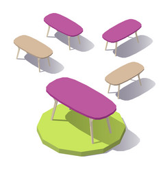 lowpoly office table vector image