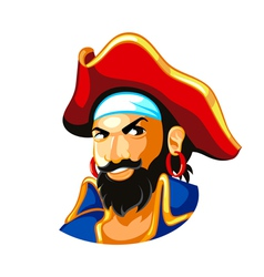 Pirate captain vector image