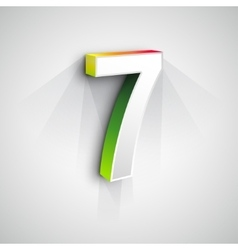3d Number Seven vector image vector image