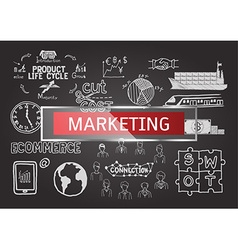 Marketing business plan infographic vector