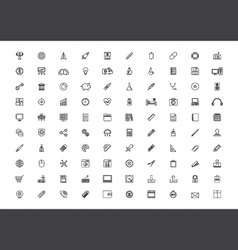376outline icon set vector
