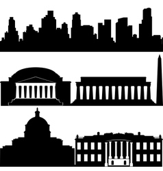 Architecture of Washington vector