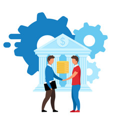 Banking service flat customized solutions vector