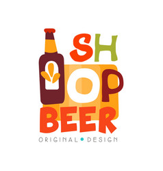 Beer shop logo design template beer house bar vector
