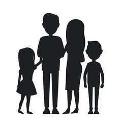 Big family consist of parents son and daughter vector