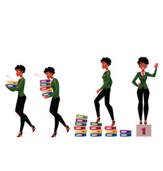 black african american businesswoman carrying vector image