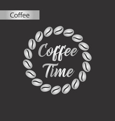 Black and white style icon coffee time logo vector