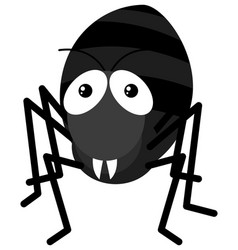 black ant on white background vector image