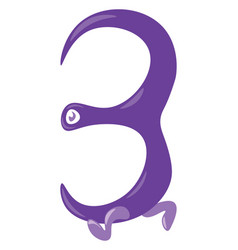 Blue animal shaped numerical number one or color vector