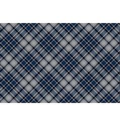 Blue diagonal plaid seamless fabric pattern vector