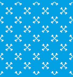 Bone pattern seamless blue vector