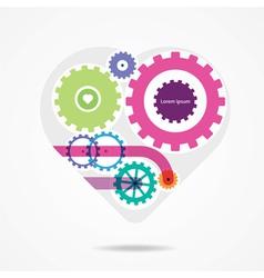 Bright mechanical heart vector