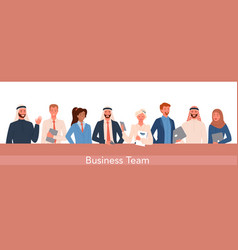 business office worker people team set happy vector image