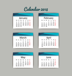 calendar months isolated icon vector image