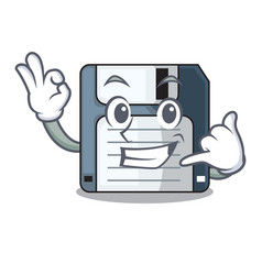call me floppy disk in the writing wallet vector image
