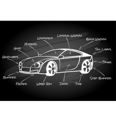 Car parts infographic element vector