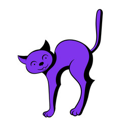 Cat icon cartoon vector