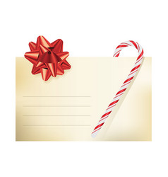 christmas themed blank note card vector image