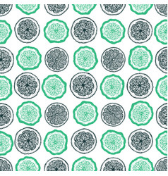 citrus seamless pattern hand drawn fruit vector image